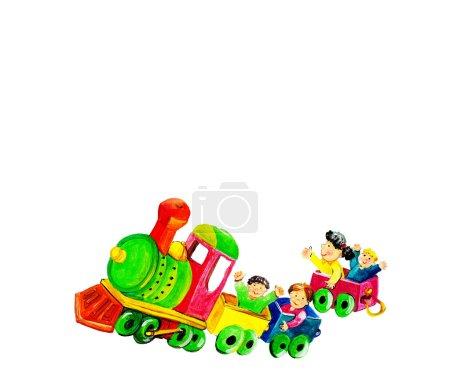 Children on train