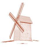 Old rural windmill