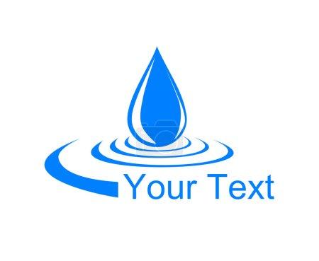 Logo drop of water