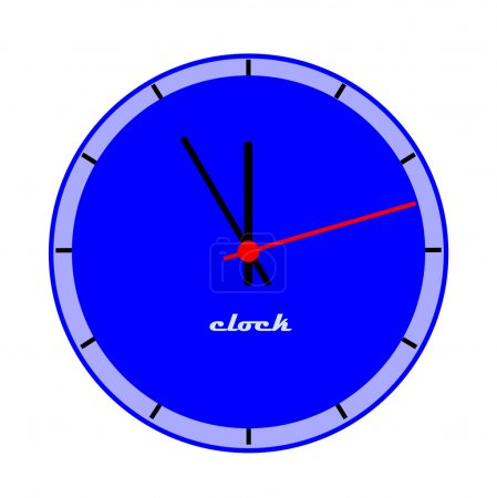 Blue clock face.