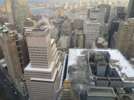 New York City Architecture with some light snow