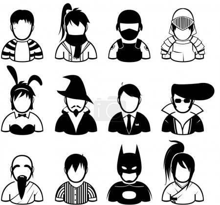 People icon in various uniform