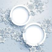 Abstraktní zimní design s sněhové vločky