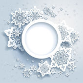 Abstraktní design s sněhové vločky
