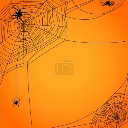 Cobweb with spiders