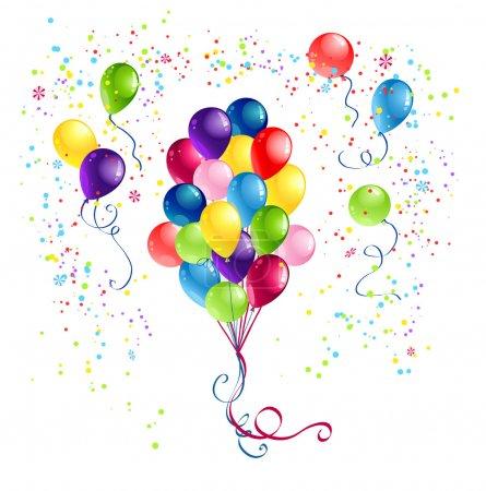 Illustration pour Bande de ballons festifs - image libre de droit