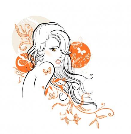 Beautiful floral girl