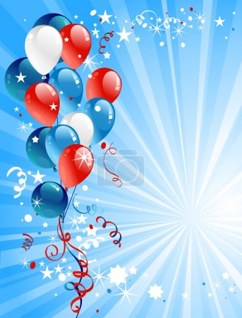 Illustration for Festive balloons with space for text - Royalty Free Image