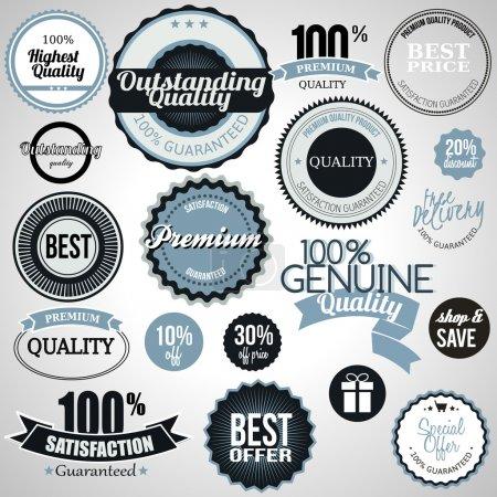 Illustration for Set of premium quality labels - Royalty Free Image