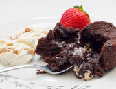 Volcano cake .