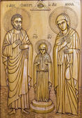 Wooden orthodox icon
