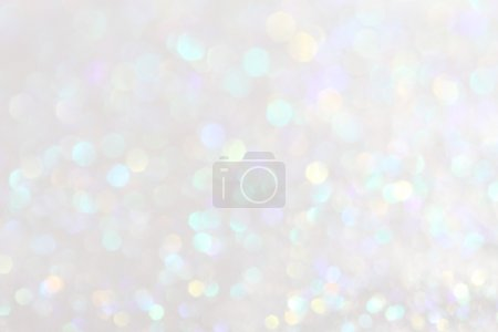 Photo for White and silver festive Christmas elegant abstract background soft lights - Royalty Free Image
