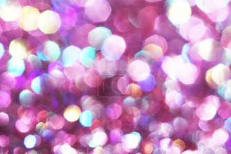 Photo for Purple, pink, white and turquoise soft lights abstract background - Royalty Free Image