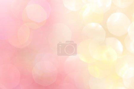 Photo pour Lumières de bokeh abstraite or et rose, fond défocalisé - image libre de droit