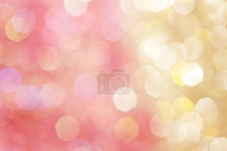 Photo for Gold and pink abstract bokeh lights, defocused background - Royalty Free Image