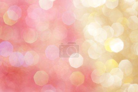 Foto de Luces de oro y rosa abstracta bokeh, defocused fondo - Imagen libre de derechos