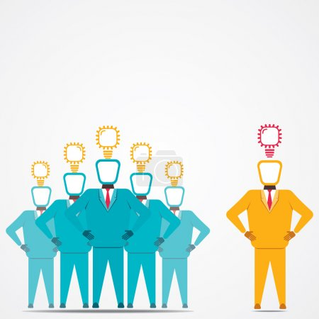 Leadership concept and new idea vector