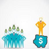 Leader give increase money saving concept vector