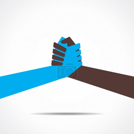 Illustration for Join hand or hand shake vector - Royalty Free Image