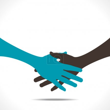 Illustration for Handshake background vector - Royalty Free Image