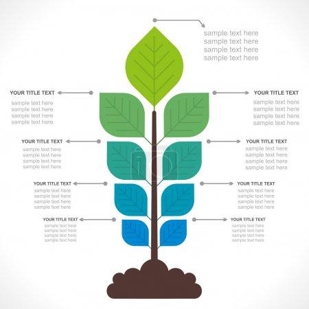 Organic farming info-graphics concept