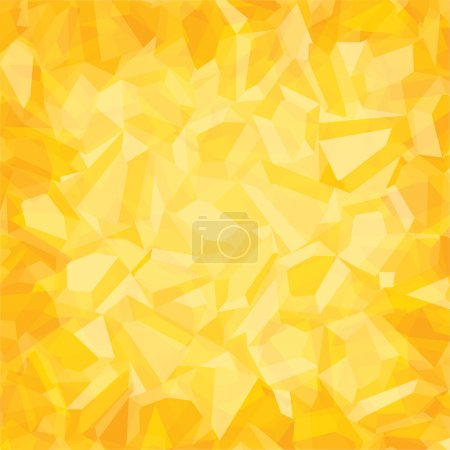 Illustration for Creative random  triangular pattern yellow background - Royalty Free Image