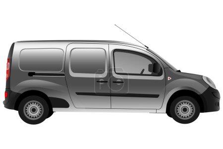 Gray Renault, Kangoo side view....