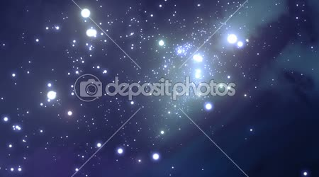 Flying through the galaxy. Beautiful Looped animation. HD 1080.