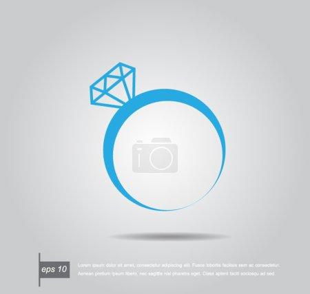 Vector illustration of a diamond ring