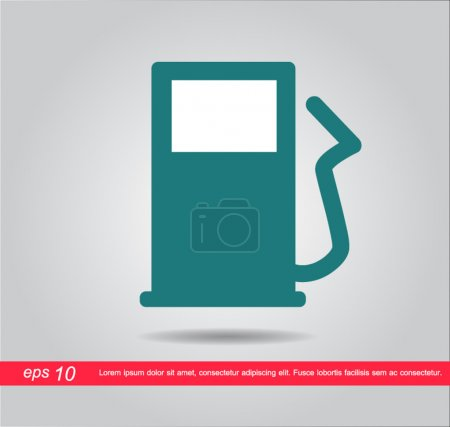 Gas station pump victor icon