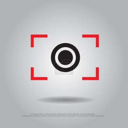 focus camera vector icon
