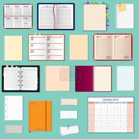 Illustration pour Collection de cahiers de vecteur - image libre de droit
