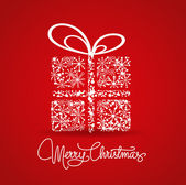 Vánoční přání s dárkem