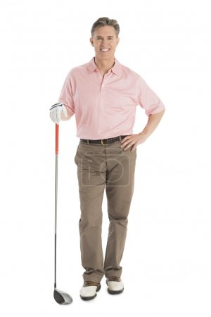 Portrait Of Confident Man With Golf Club