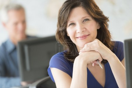 Beautiful Businesswoman Smiling In Office