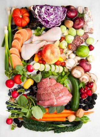 Assortment of Various Healthy Foods