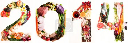 Assortment of Fresh Vegetables and Meats Arranged in 2014