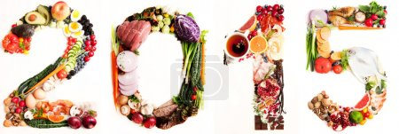 Assortment of Fresh Vegetables and Meats Arranged in 2015