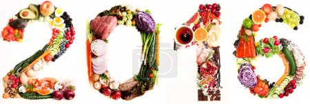 Assortment of Fresh Vegetables and Meats Arranged in 2016