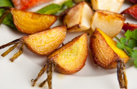 Root Vegetables Grilled in Butter with Sea Salt and Herbs