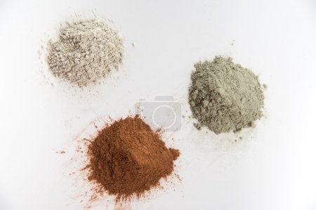 Three Different Clay Mud Powders