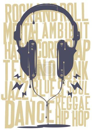 malowane słuchawki z muzyką