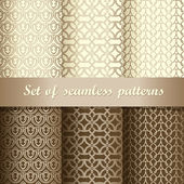 Set of seamless background patterns Vector illustration