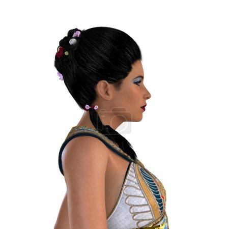 Egyptian Nefertiti with Hair