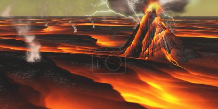 This alien planet has continuous eruptions of its ...