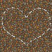 Heart drawn in chalk on the pavement asphalt road vector illustration