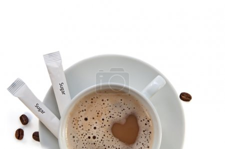 Cup of cappucino coffee