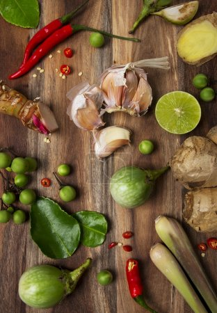 Photo for Ingredients of Thai spicy cuisine - Royalty Free Image