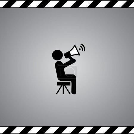 Illustration pour Symbole du film réalisateur dans le cadre - image libre de droit