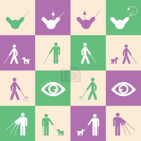 blind man symbol